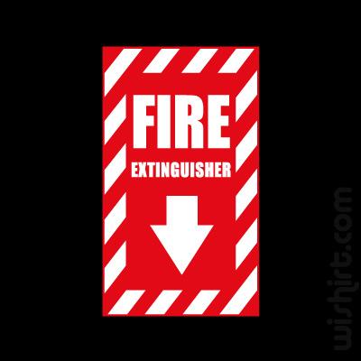 T-shirt Fire Extinguisher, Extintor