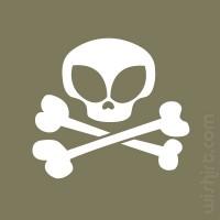 T-shirt Alien Skull