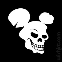 T-shirt Bad Mickey Skull
