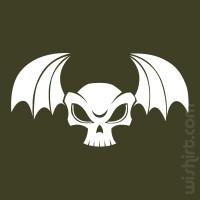 T-shirt Caveira Morcego
