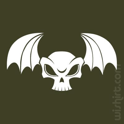 T-shirt Caveira Morcego, Bat Skull