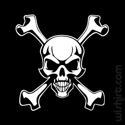 T-shirt Evil Skull