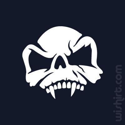 T-shirt Caveira Vampiro, Vampire Skull