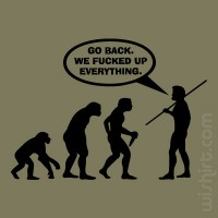 T-shirt Go Back in Evolution