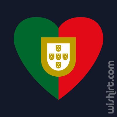 T-shirt Coração Portugal