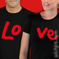 Conjunto de 2 t-shirts Love