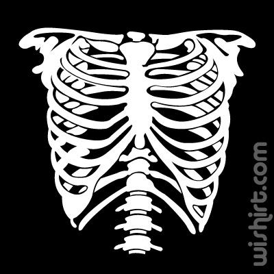 T-shirt Bones, Skeleton, Esqueleto