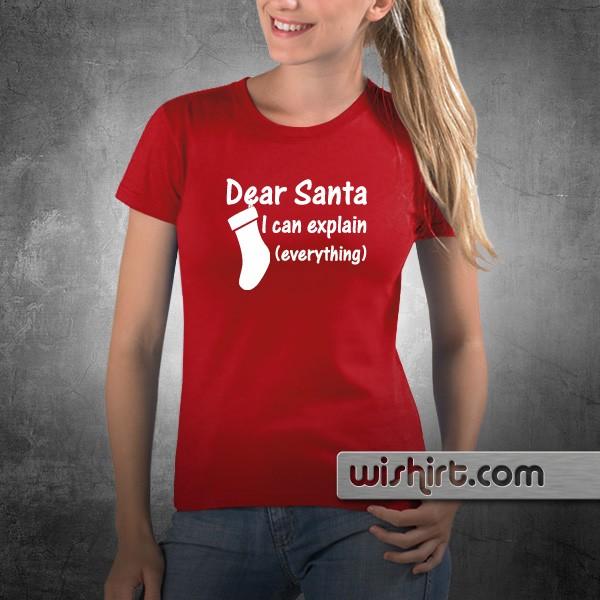T Shirt Dear Santa I Can Explain Everything Wishirt T