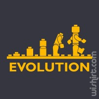 T-shirt Lego Evolution