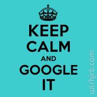 T-shirt Keep Calm and Google It