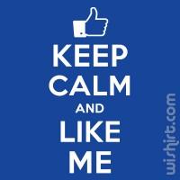 T-shirt Keep Calm and Like Me