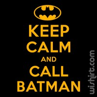 T-shirt Keep Calm... Batman