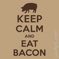 T-shirt Keep Calm and Eat Bacon