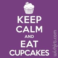 T-shirt Keep Calm... Cupcakes