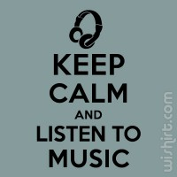 T-shirt Keep Calm... Music