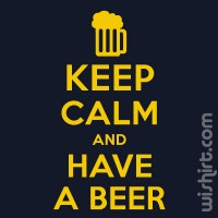 T-shirt Keep Calm Have a Beer