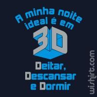 T-shirt Noite Ideal em 3D