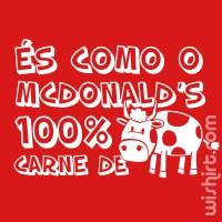 T-shirt 100% carne de Vaca