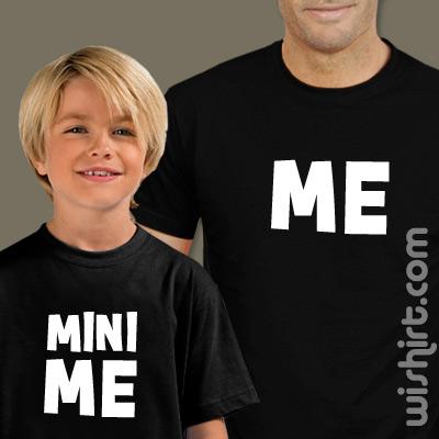 T-shirts Mini Me - Pai, Conjunto de uma t-shirt de homem + uma t-shirt de criança