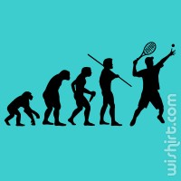 T-shirt Evolution of Tennis