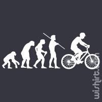 T-shirt Bicycle Evolution