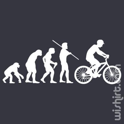 T-shirt Bicycle Evolution, Evolução Bicicleta