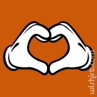 T-shirt Mickey Hands Heart