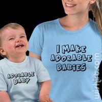 T-shirts Adorable Babies - Mãe