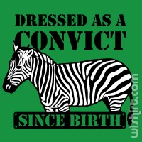 T-shirt Dressed as a Convict