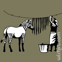 T-shirt Hanging Zebra Stripes