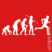 T-shirt Evolution of Running