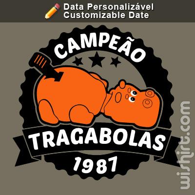 T-shirt Campeão de Tragabolas, Data Personalizável