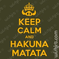 T-shirt Keep Calm Hakuna