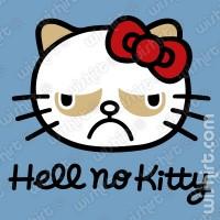 T-shirt Hell no Kitty