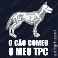 T-shirt O cão comeu o TPC