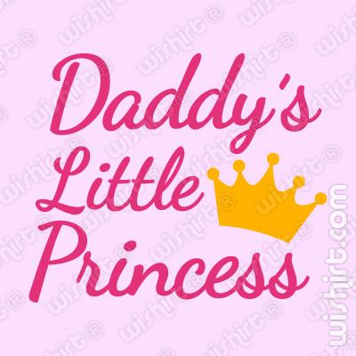 T-shirt para Bebé Daddy's Little Princess