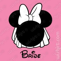 T-shirt Minnie Bride