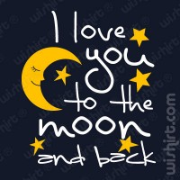 T-shirt Love you to the Moon