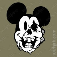 T-shirt Mickey Face Off Skull