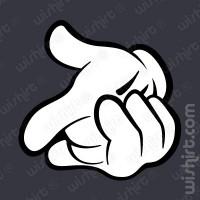 T-shirt Mickey Hands Pistola