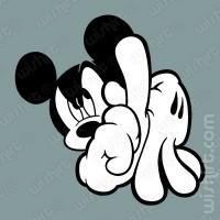 T-shirt Mickey Face LA Hands