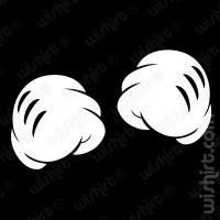 T-shirt Mickey Hands Fist