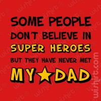 T-shirt Dad Super Heroes