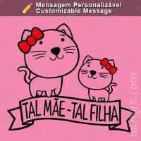 T-shirt Tal Mãe Tal Filha Gato