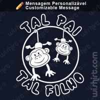 T-shirt Tal Pai Tal Filho Macaco