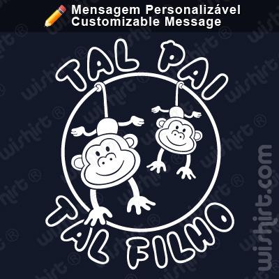 T-shirt Tal Pai Tal Filho Macaco / Tal Mãe Tal Filha Macaco