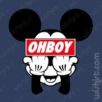 T-shirt OhBoy Mickey F**k Off