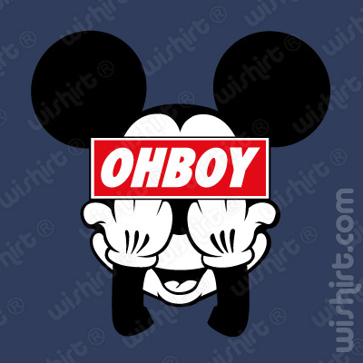 T-shirt OhBoy Mickey Mouse F**k Off