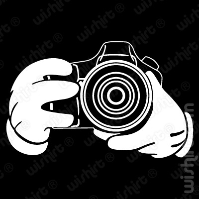 T-shirt Mickey Mouse Hands Camera