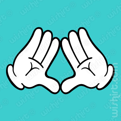 T-shirt Mickey Mouse Hands Triangle